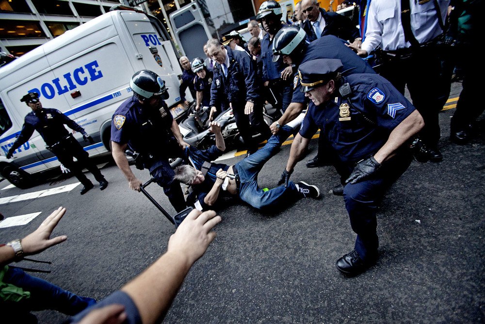 It's the fall of 2011 and the Occupy Wall Street movement is clashing with NYPD.