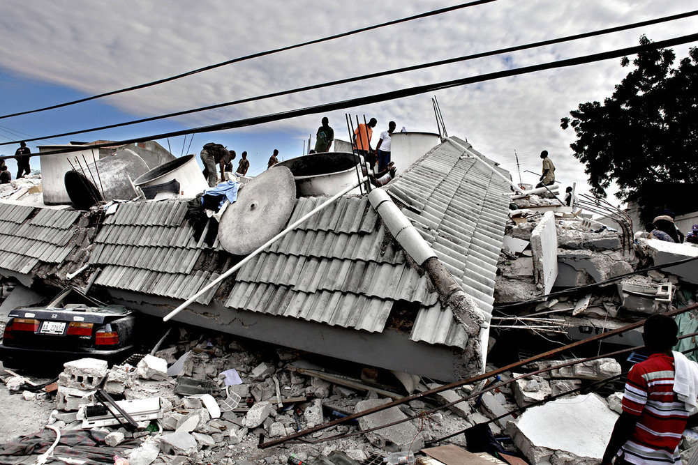 The earthquake in Haiti in January 2010 killed over 200,000 people.