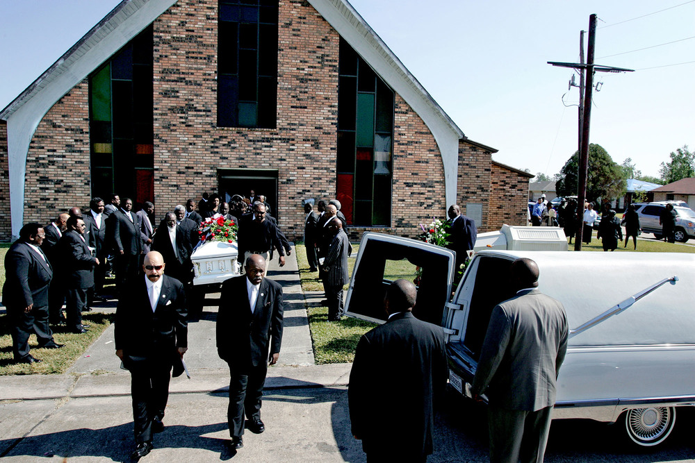 There were a lot of funerals in the months after Katrina.