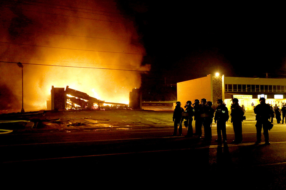 When the news came that Wilson will not be prosecuted, the protest turned violent. Several shootings took place and local businesses where burned down.