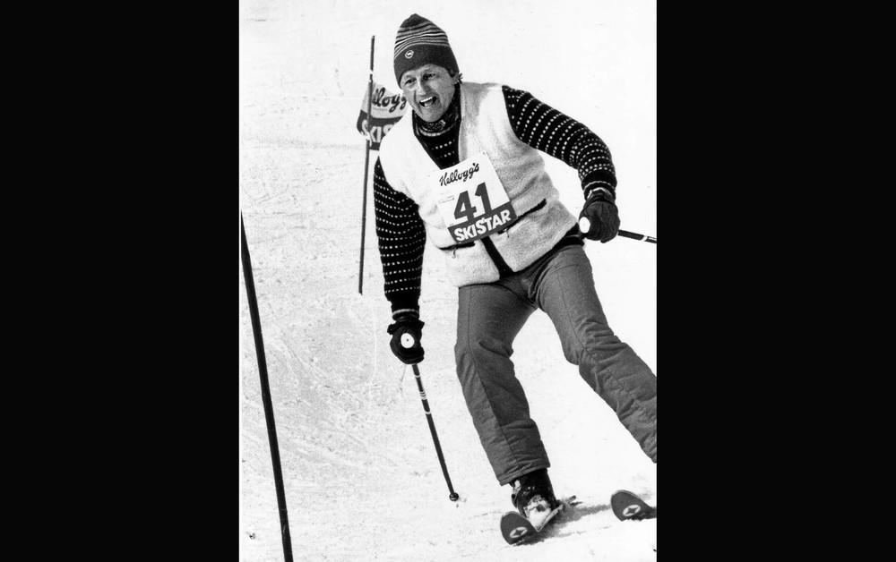 Morfar under en Ski Star-tävling i Edsåsdalen 1979.