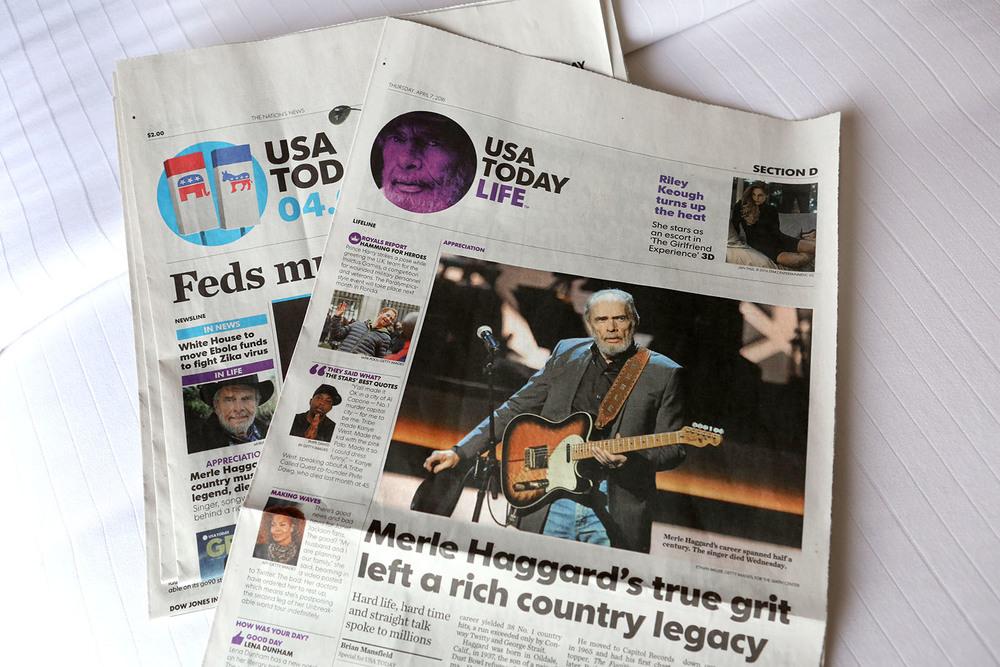 USA Today torsdag 7 april, 2016.