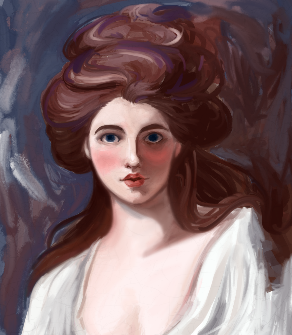 Study of George Romney's 'Emma Hart as Circe' c. 1782