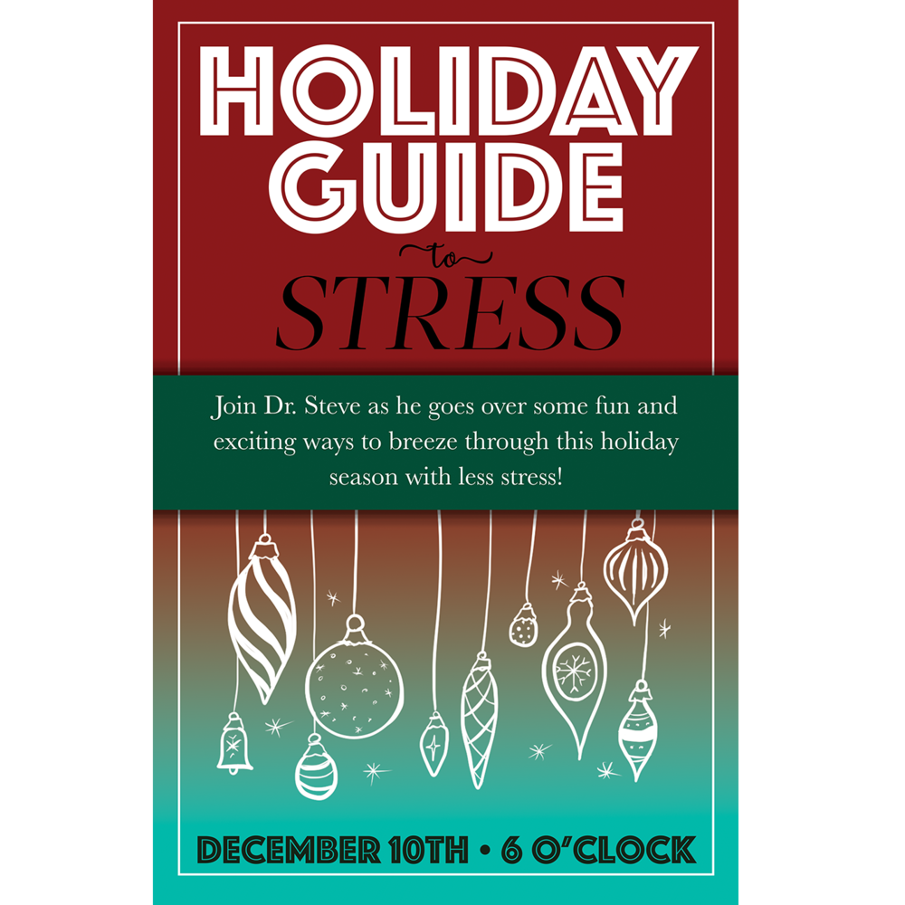 Holiday Stress Guide Event Poster