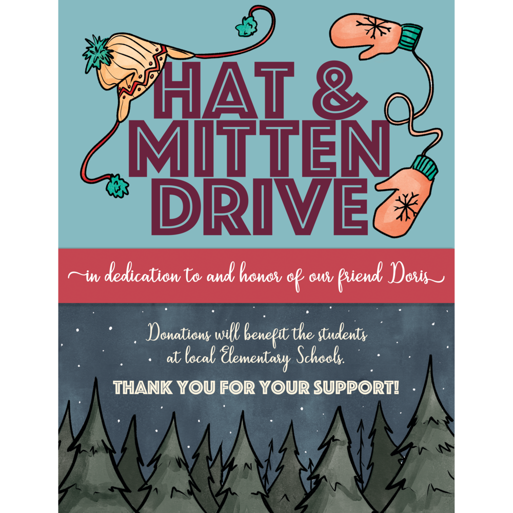 Hat & Mitten Drive Event Poster