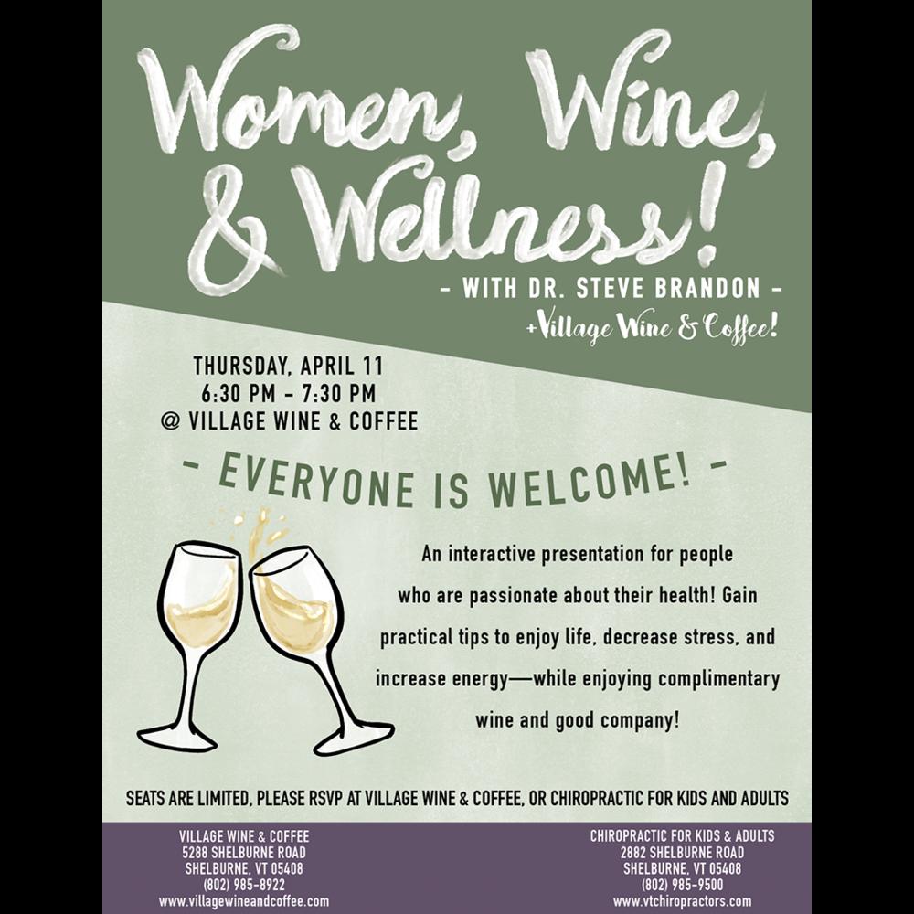 Women, Wine, & Wellness at Shelburne Wine and Coffee