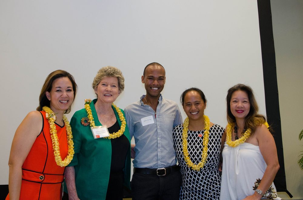 """""""So blessed to have met such strong, resilient, and selfless women."""" L. Blake Harvey, Founder, Lawrence Blake Group International. (From left) Senator Jill Tokuda, Representative Cynthia Thielen, Representative Della Bellati, and Senator Suzanne Chun Oakland."""