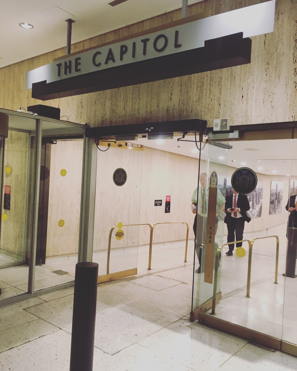 Arriving at the Capitol
