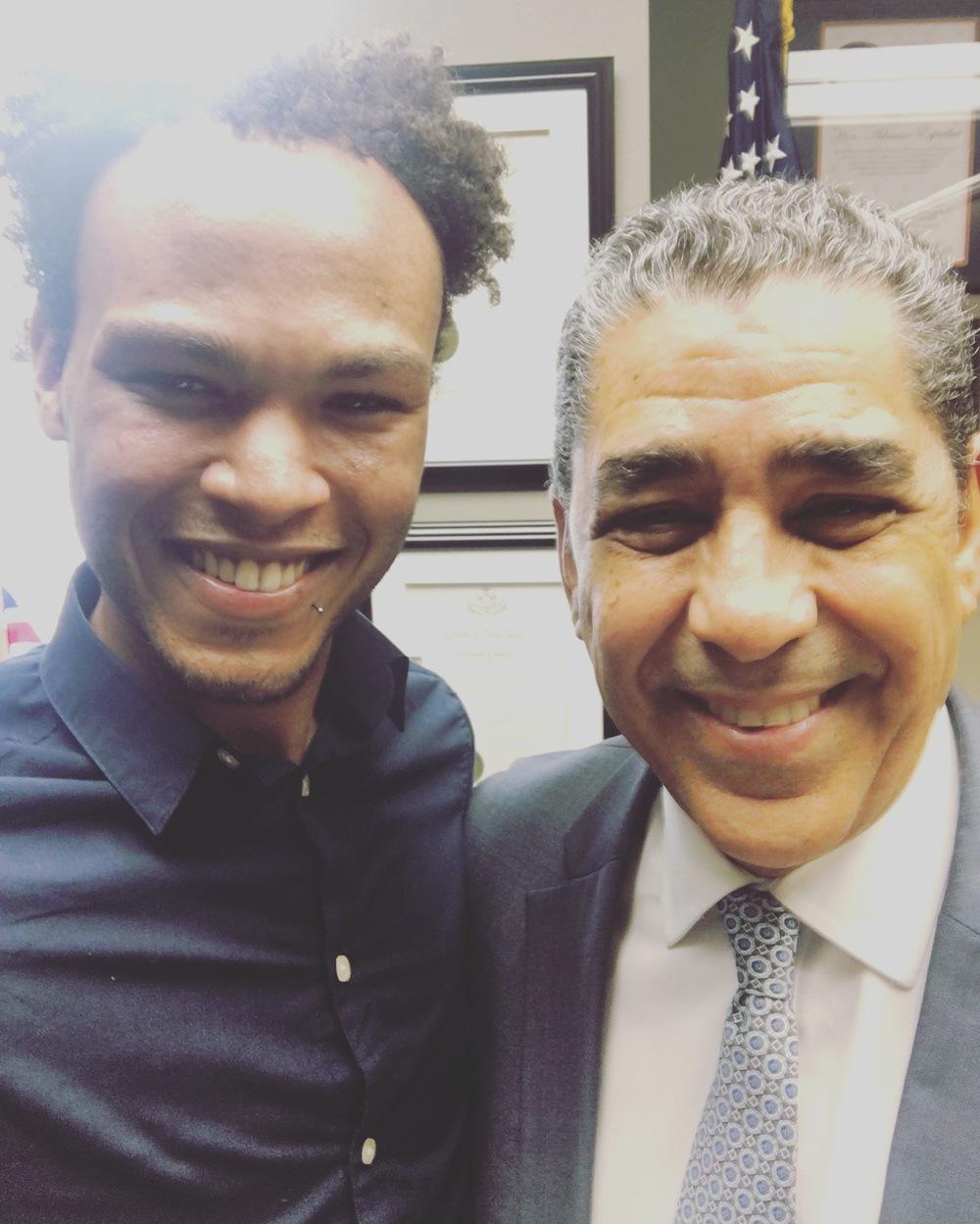 L. Blake Harvey and NY Senator Adriano Espaillat