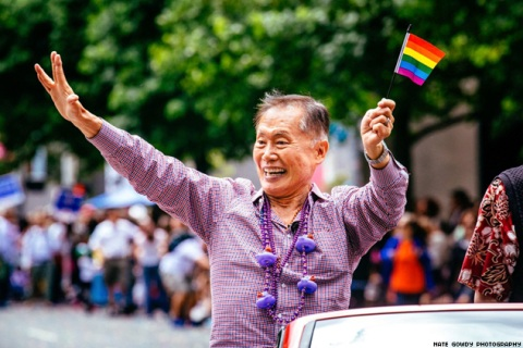 George Takei at the 2014 Seattle Pride Parade (© 2014, Nate Gowdy Photography)
