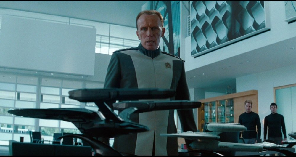 USS Vengeance - How top-secret can it be when Admiral Marcus has a model on display in his office?