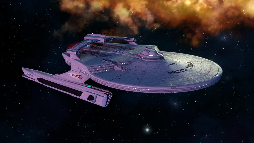 The  Miranda  class as seen in STO (© Cryptic Studios)