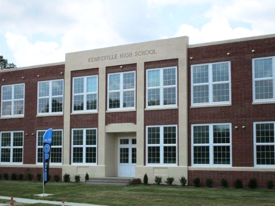 Historic Kempsville High School adapted to new residences.
