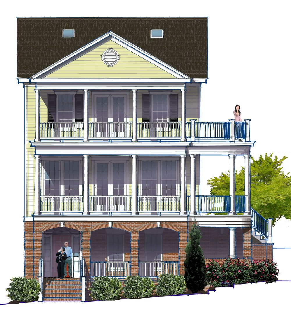 Cavalier Lot 45 Front Elevation Rendering