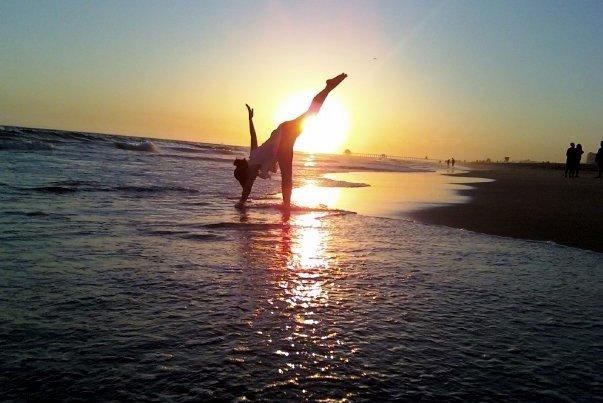 yoga in sun