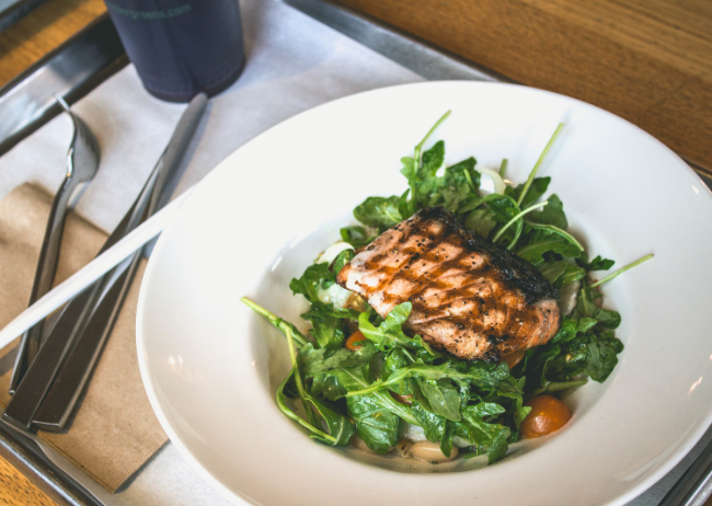 Tender Greens Cafe Scottish salmon dish