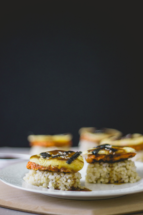 carrot jeon triangles with eel sauce-korean and japanese bento style | Fit for the Soul