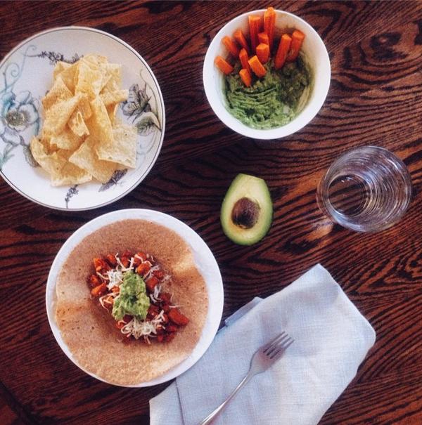 al pastor tacos with homemade guacamole