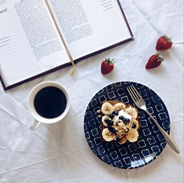 morning toast and devotional