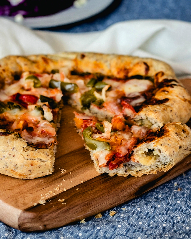 Sweet Potato Filled Crust Pizza-Korean Style | fit for the soul.com