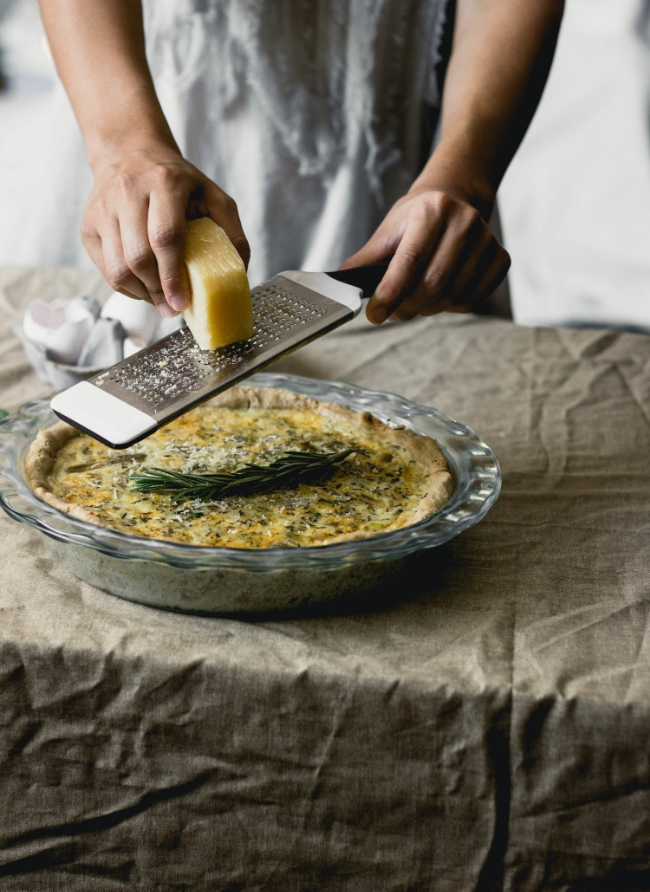 Hatch Chile Quiche with a Gluten Free Oat Crust by Fit for the Soul