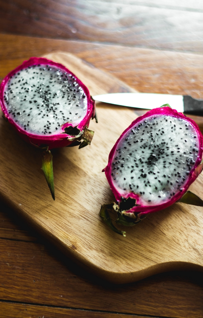 Dragon fruit cut in half | fit for the soul