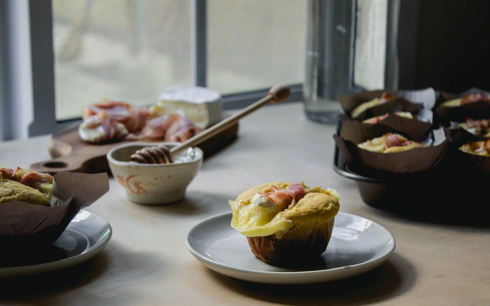 Prosciutto and Camembert Corn Muffins Recipe for Thanksgiving | fit for the soul