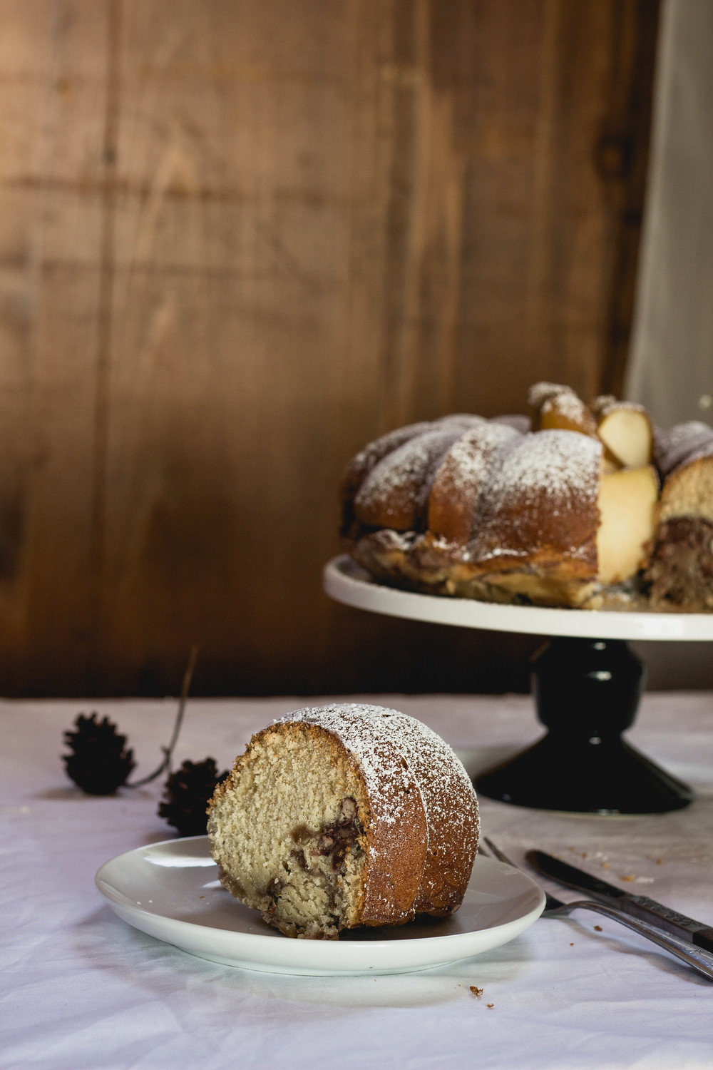 Red bean and mochi bundt cake for Thanksgiving--wheat and lower in fat | fit for the soul