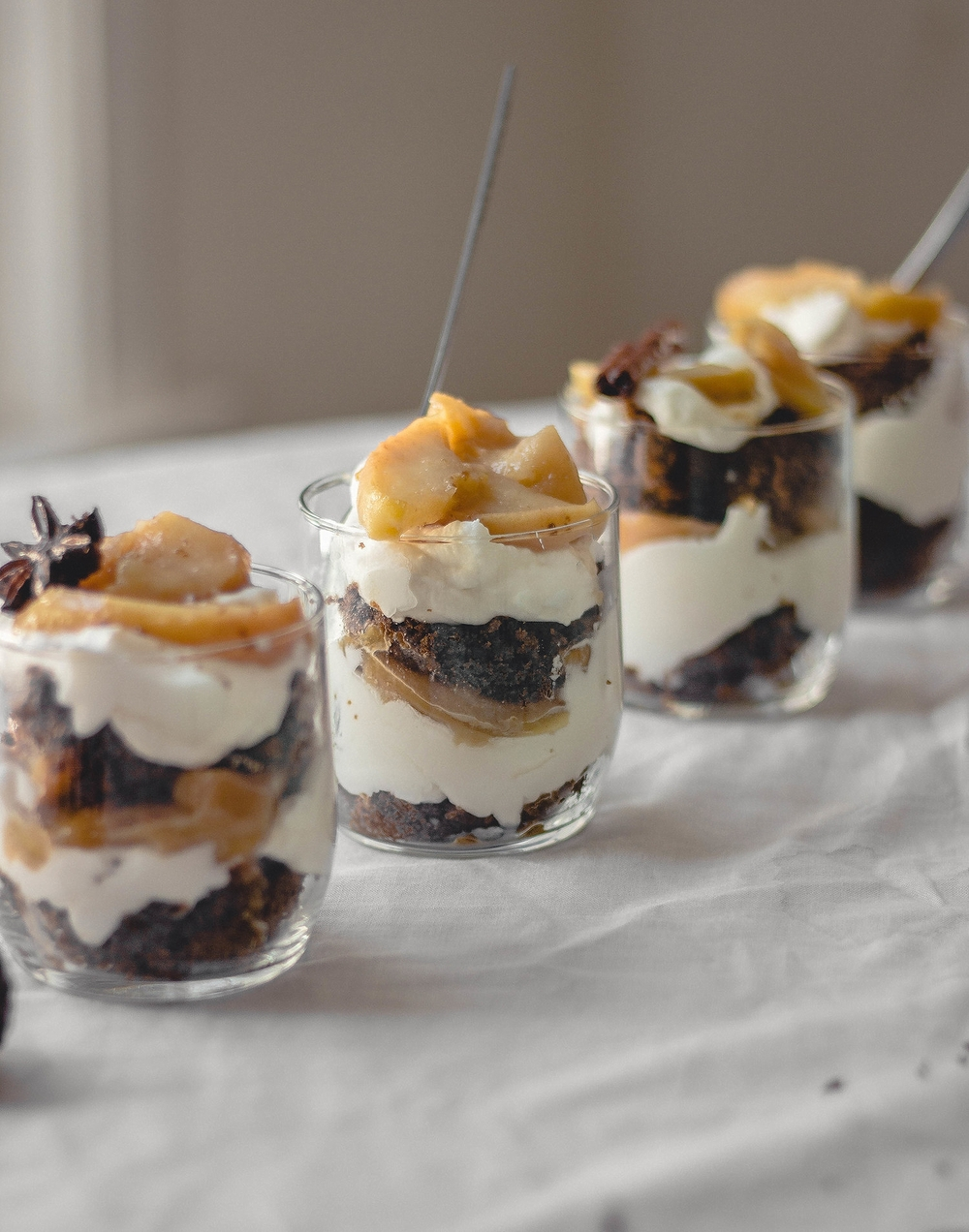Gingerbread and spice trifle cup recipe | by fit for the soul