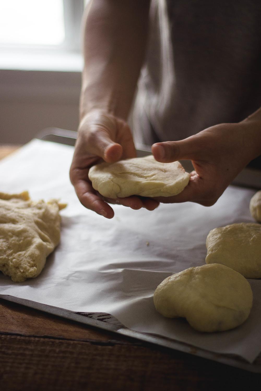 Soboro {소보로} Korean peanut streusel bread recipe step by step.jpg