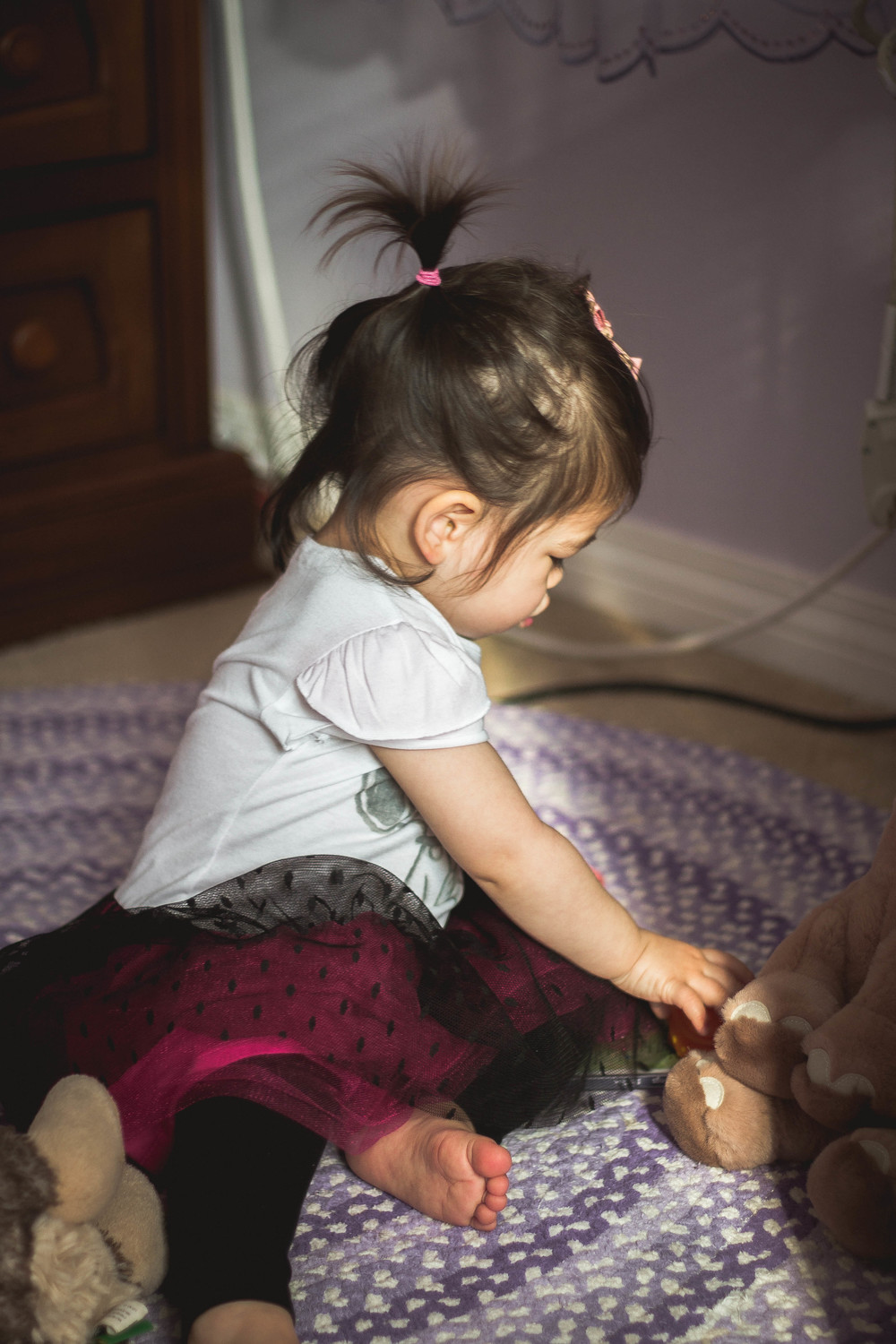 Selah at 1.5 years old playing with stuffed animals | by fit for the soul