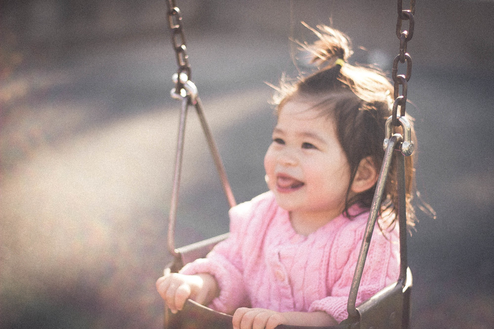 Selah swinging at Wilson Park in Torrance | by fit for the soul