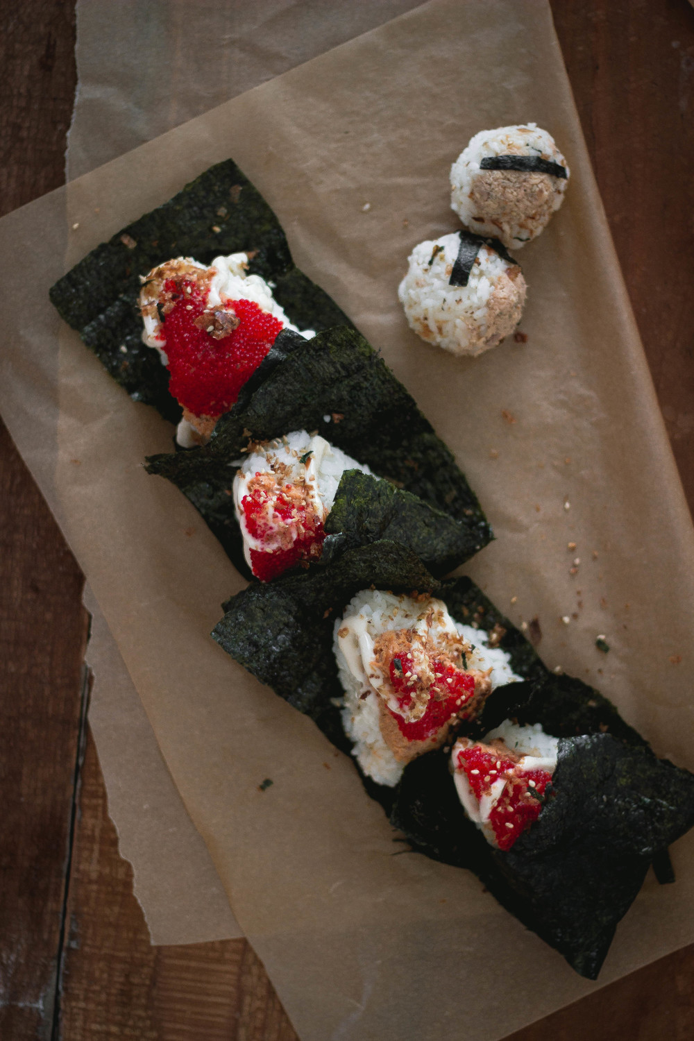 easy spicy salmon onigiri or omusubi recipe  by fit for the soul.jpg