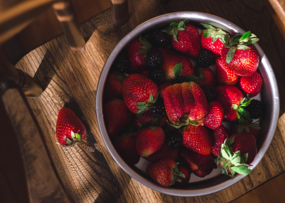 Strawberry photo with a certain slant of light | by fit for the soul