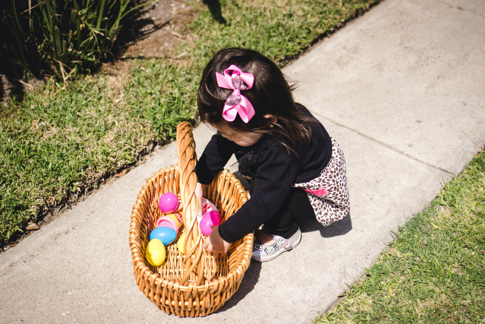 Selah practicing egg hunting | by fit for the soul