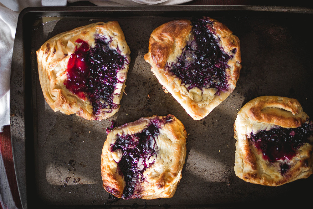 How to make cream cheese & blueberry danish step by step photos | by fit for the soul