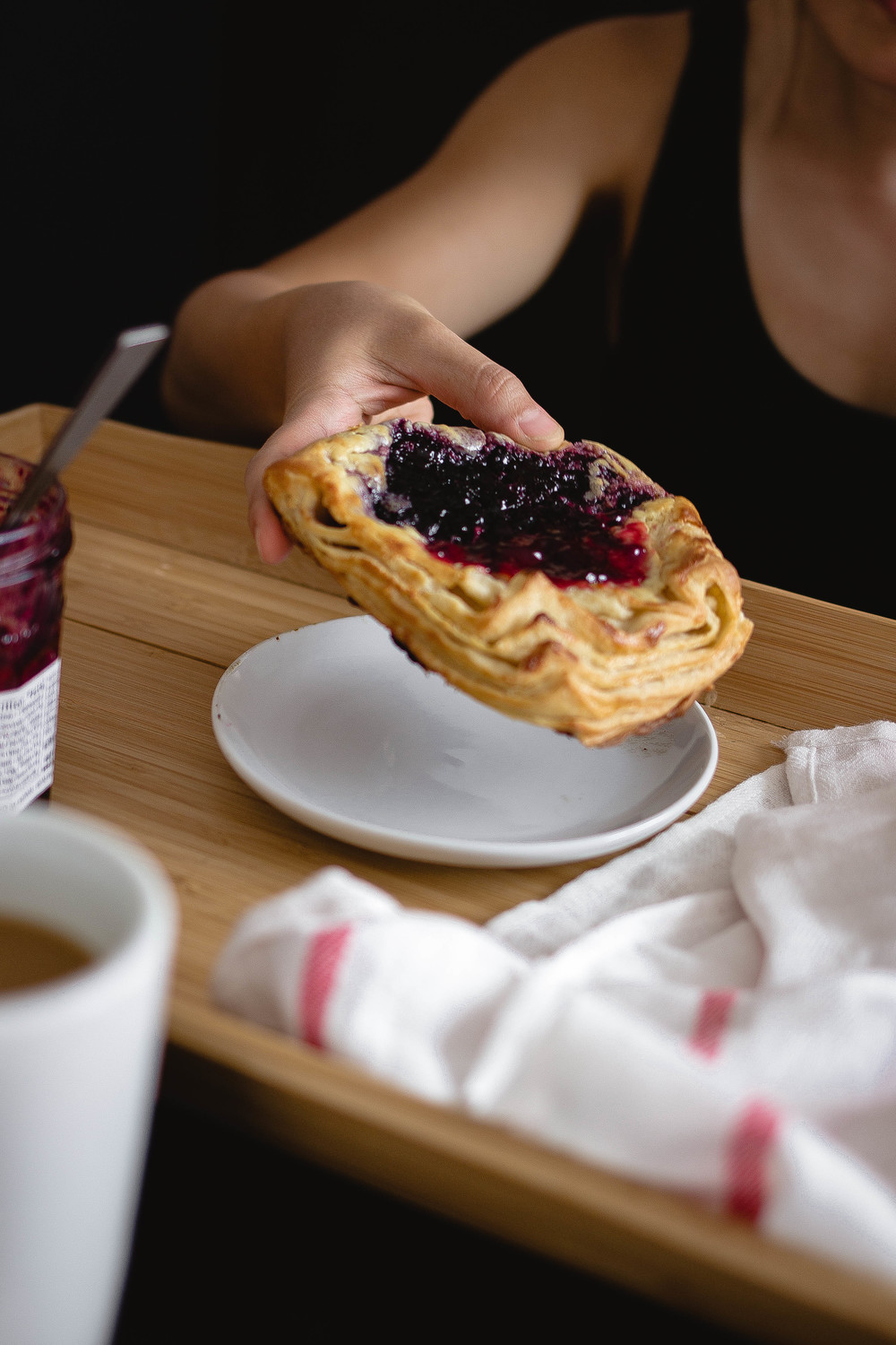Afternoon coffee break with homemade berry danish | by fit for the soul