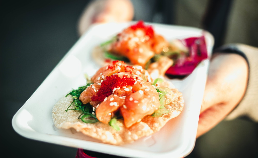 Spicy salmon poke at the OC Night market | by fit for the soul