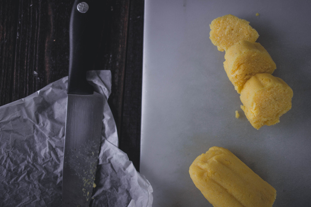 Fouth of July Recipe: Pan Fried Polenta with butter