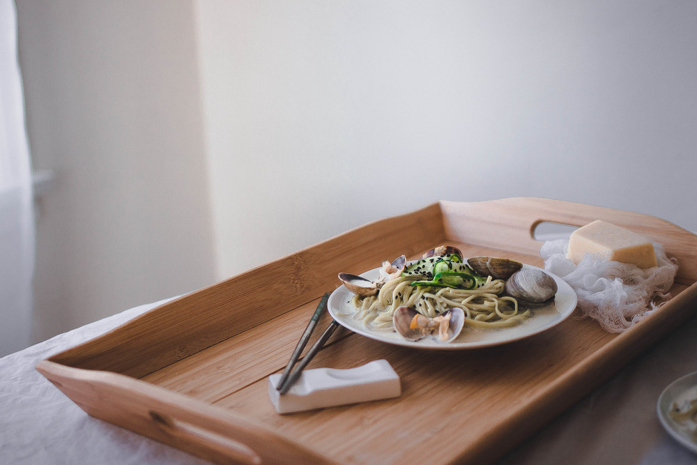 Green Tea Soba and Creamy Vongole Pasta | by fit for the soul