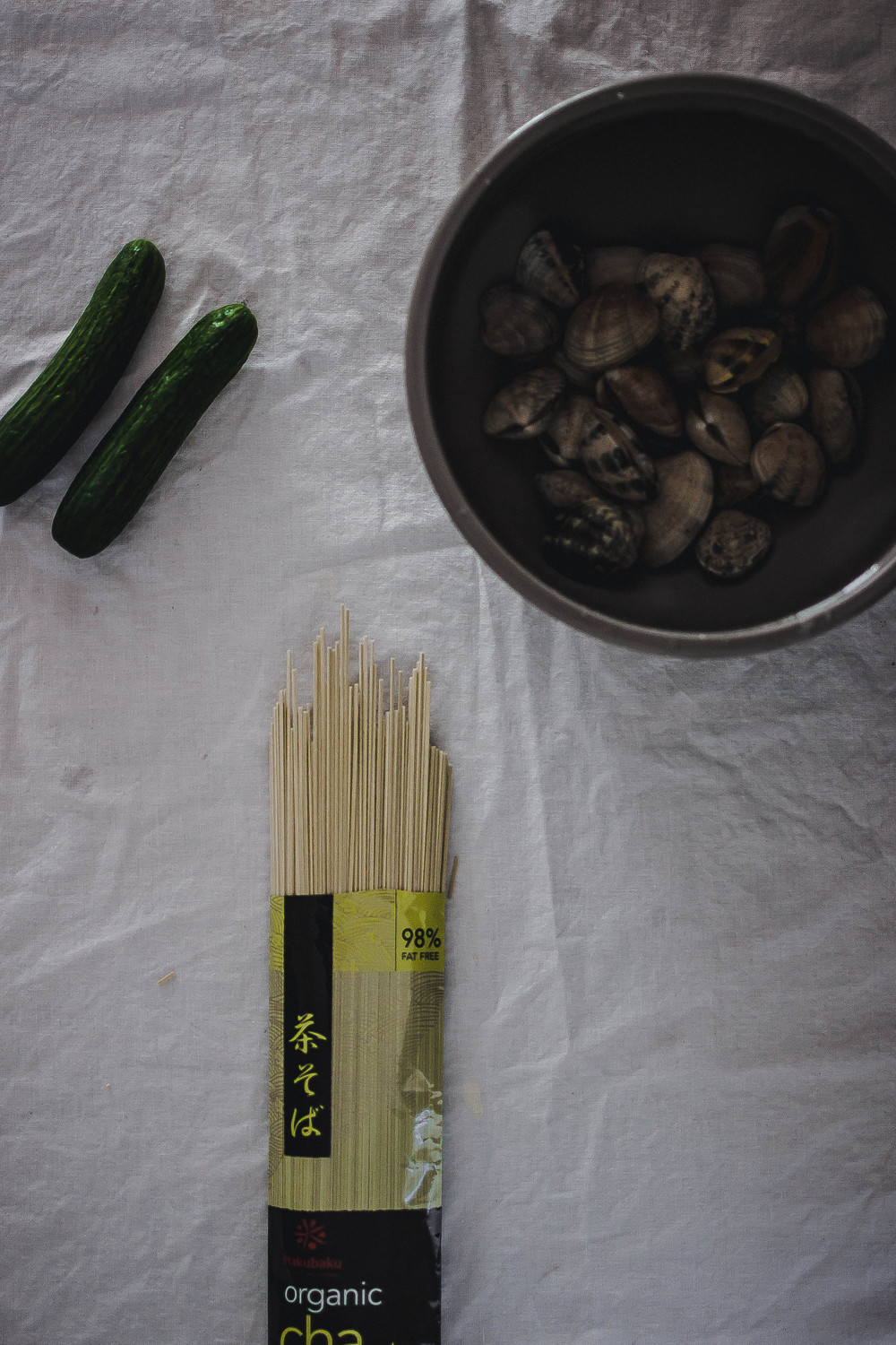 Hakubaku Cha Soba Noodles for Vongole Pasta | by fit for the soul