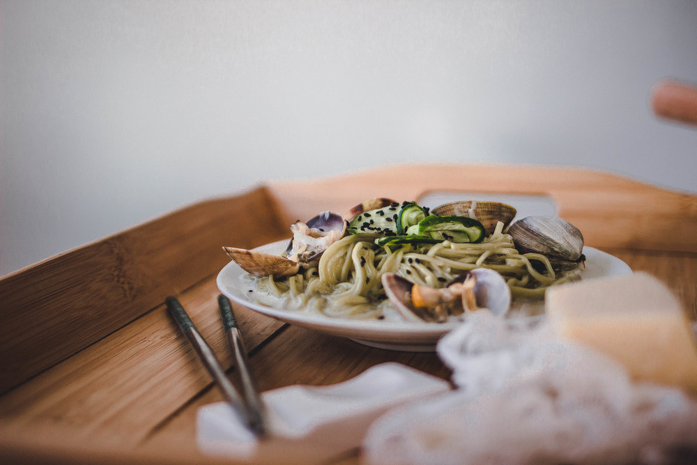 Green Tea Soba and Creamy Vongole Pasta Recipe | by fit for the soul