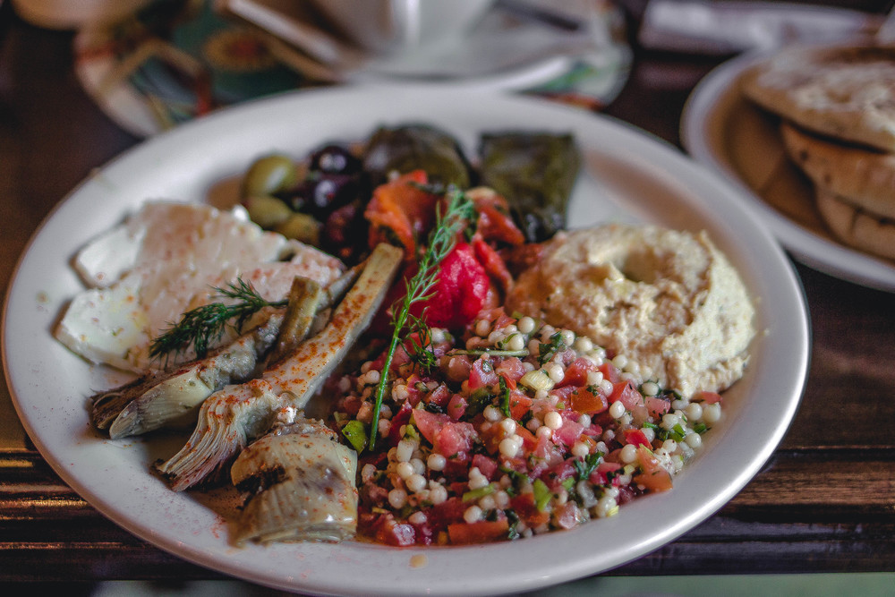 Urth Caffe Mediterranean Platter--delicious! | by fit for the soul