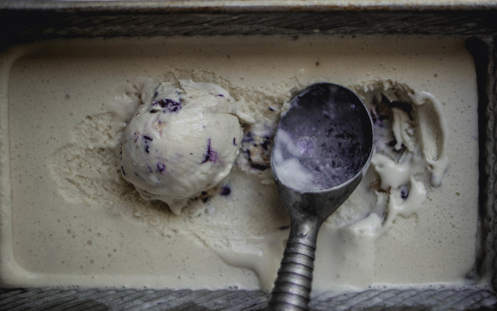 Easy Blueberry Cobbler No-Churn Ice Cream Recipe | by fit for the soul