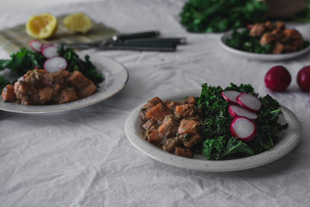 Wasabi Salmon Poke with Massaged Shoyu Kale Recipe | by fit for the soul