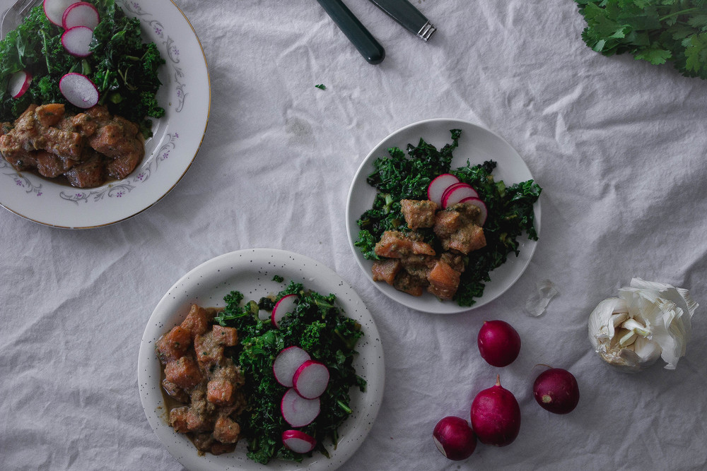 Wasabi Salmon Poke with Massaged Shoyu Kale | by fit for the soul