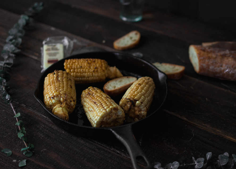 Brown butter gochujang corn {cast iron or grilled or roasted} | by fit for the soul