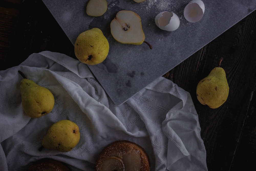 How to soak pears in rum, plus Crate and Barrel's most inexpensive marble slab, woot! | by fit for the soul