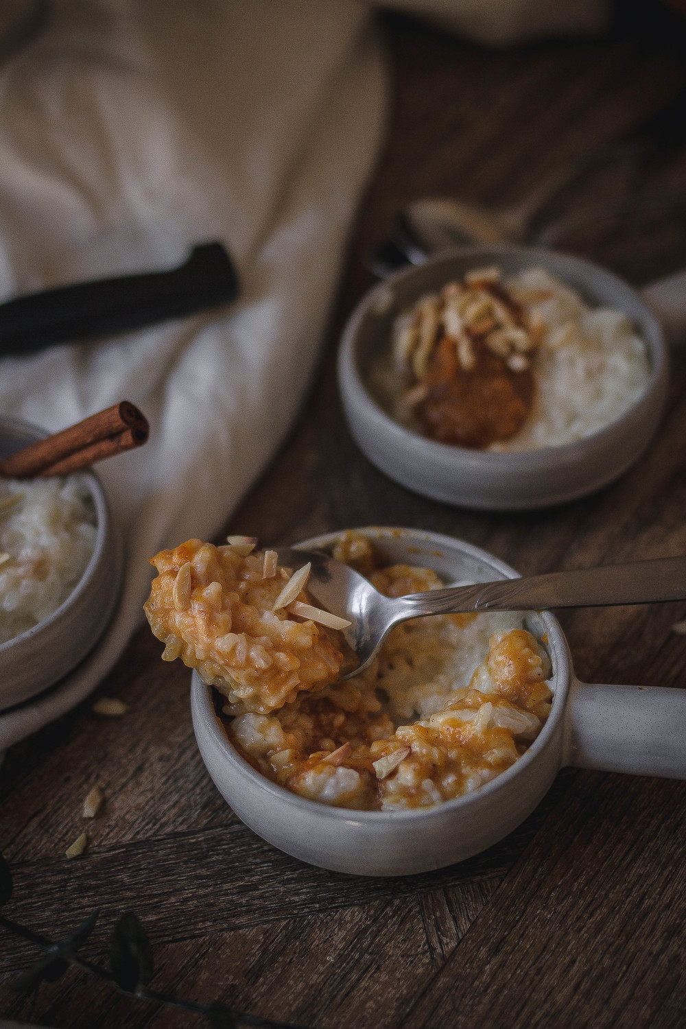 How to make the best arroz con leche, top with maple pumpkin and toasted almonds for crunch | by for the soul