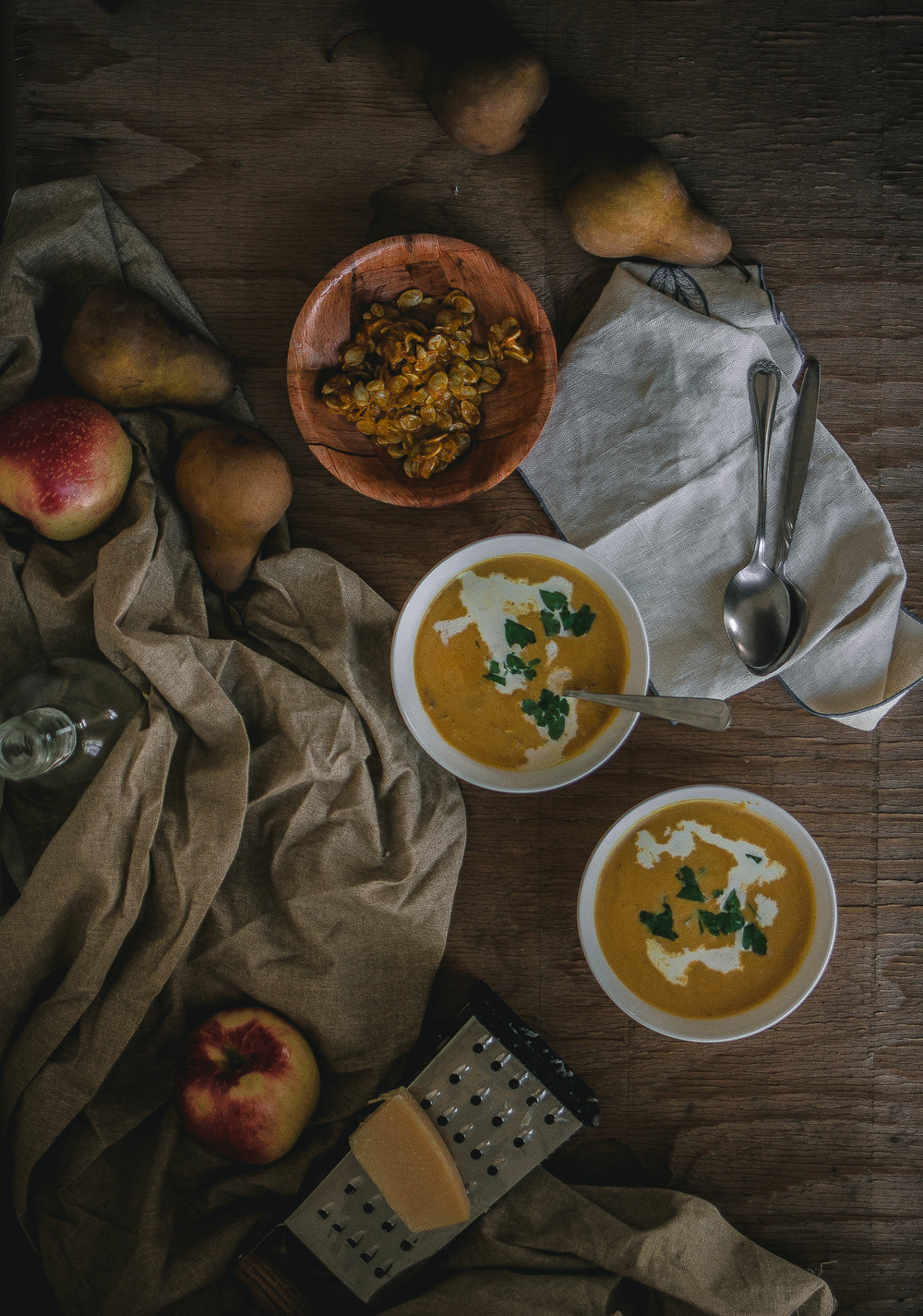 Roasted Kabocha Squash and Parmigiano Soup for Christmas!--Inspired by Petite Madeline, Oceanside | by fit for the soul